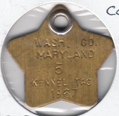 1967 Washington County Maryland Kennel Tag #5