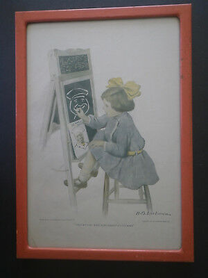 1911 Cream of Wheat 'Imitation, The Sincerest Flattery' Print Ad Framed