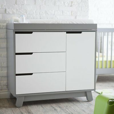 Babyletto Hudson Dresser, Grey/White