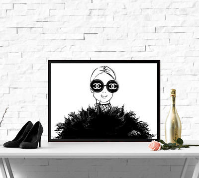 Fashion Poster Print Art Chanel Coco Paris Decor Girly Beauty Home WallArt -90