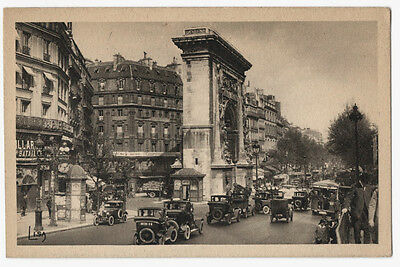 CPA - 75 PARIS Grands Boulevards Porte Saint-Martin VOITURES ANCIENNES ANIMATION