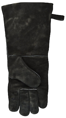 Flame Resistant Protective Barbecue Camp Fire Mitt Oven Glove Gauntlet - Black