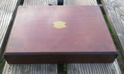 Vintage Wooden Empty Cutlery Box as found for spares or repair