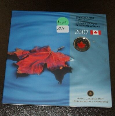 2007 Canada 25 Cents Coloured Coin Commemorative Set - Oh Canada - 7 Coins Set