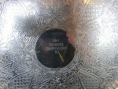 50th Pasadena Championship WD 1964 Rose Bowl Silver Plated Trophy Tray