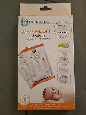 Prince Lionheart Ever-Fresh Replacement Pillows for Wipes Warmer, 2 Count