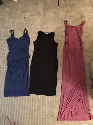 Lot Of 3 Fitted Size Small And Xsmall Maternity Dresses