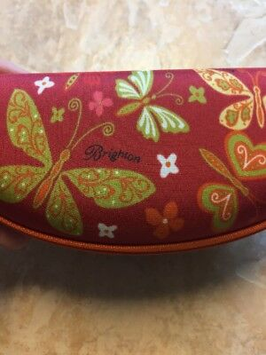 Eye On Brighton Butterfly Hard Case For Sunglasses NWT Red/Multi Color