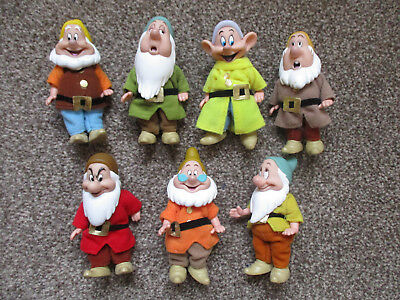 DISNEY vintage Snow White and the Seven Dwarfs Dolls and accessories