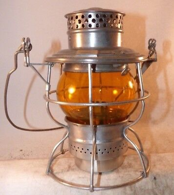 D&RGW Adlake No 250 w/ amber etched D&RGW globe