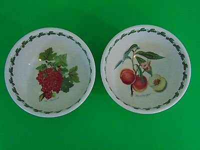 Portmeirion POMONA Salad / Serving  Bowl Set of 2  Red Currant Royal George Peac