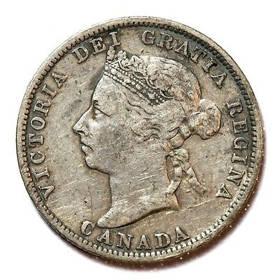 Canada Silver 25 Cents 1892