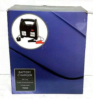Battery Charger 12V, 4 Amp Analogue Display *New & Sealed*