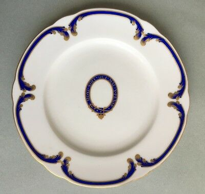 1901 ANTIQUE ROYAL WORCESTER OFFICERS MESS MILITARY PLATE bone china Phillips
