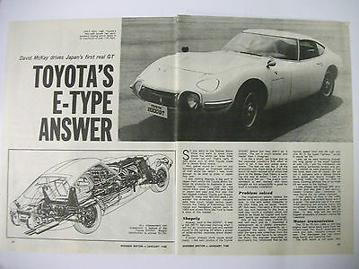 1968 Toyota 2000 Gt 3 Page Australian Magazine Preview Drive Article