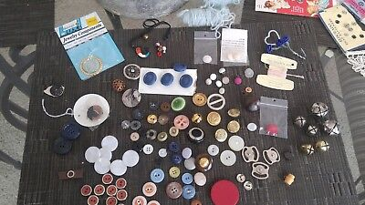 Vintage Tin Full of Sewing Notions, Hand Made Lace, Snaps, & Antique Buttons
