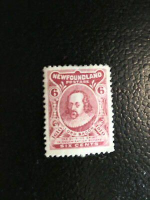 NFLD - mint 6c Lord Bacon, SC#92