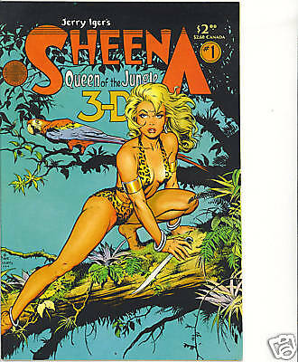 Sheena 3-D 1 Classic Dave Stevens cover vfn Good Girl Blackthorne comics