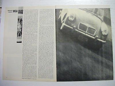 1959 Mga 1600 Complete 4 Page Us Magazine Road Test Article