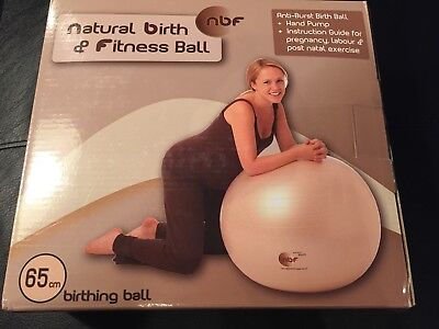 Natural Birth & Fitness Ball - NBF 65cm birthing ball - fitness - Free P&P