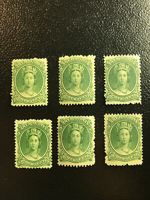Nova Scotia - mint SC#11 (x6) - NH, LH(x2), HR(x2), NG