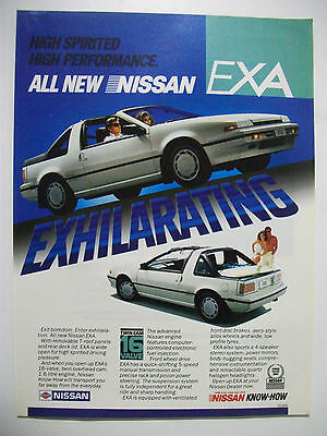 1987 Nissan Exa Fullpage Colour Magazine Advertisement