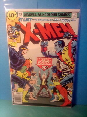 X - MEN 100 , OLD Vs NEW ,  MARVEL COMICS , BRONZE AGE 1976 ,  V- GOOD.*UK.ONLY