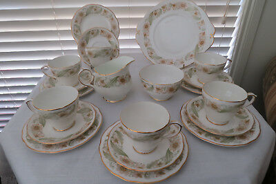 21 Piece **Duchess Greensleeves** Tea Services for 6 - Excellent Condition