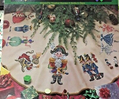 Counted Cross Stitch Pattern - Christmas Tree Skirt by Woodrow Bowman & Dunn