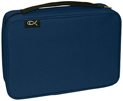 """Bible Cover Basic Navy Extra Large 21441 New 7.25"""" x 10.125"""" x 2.25"""""""