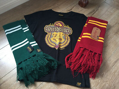 Harry Potter Exhibition Quidditch Shirt, Gryffindor and Slytherin Scarves