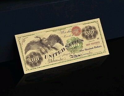 """2X <MINT GEM CONDITION>1899 """"GOLD"""" $100 HUNDRED Banknote W/ COA~U.S SELLER~ a"""