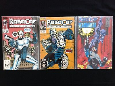 ROBOCOP Lot of 3 Marvel / Dark Horse Comic Books - #1 12 & R vs Terminator #1!
