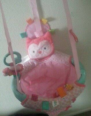 Taggies Jumper JUMPUP  Baby Girl Pink Doorway Exerciser Bouncer Door Jump . MINT