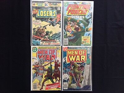 OUR FIGHTING FORCES & MEN OF WAR Lot of 4 DC Comics - OFF #165 180, MoW #14 23!