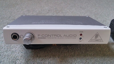 Behringer F-CONTROL AUDIO FCA202 Audiophile 2 In/Out FireWire Audio Interface