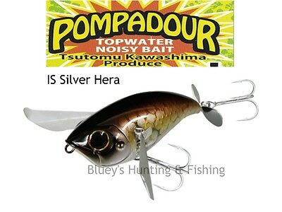 Jackall pompadour floating topwater noisy bait lures; IS SILVER HERA NEW