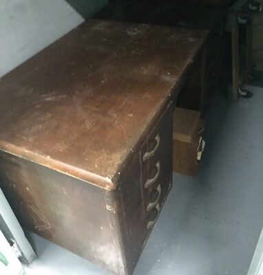 Old Desk and Wooden Cabinet