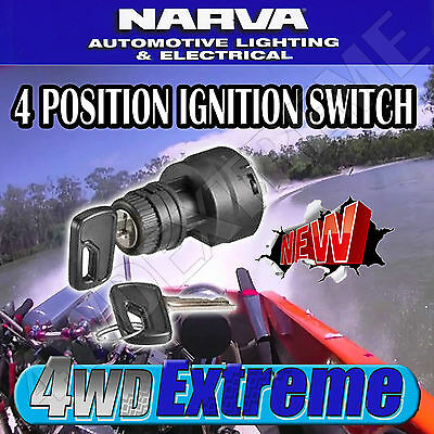 Narva Universal Ignition Switch 4 Position Suit Many Vehicles Boat Offroad 64020