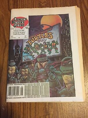 Comics Buyer's Guide # 795  3/10/1989  Featuring  The TMNT'S Rare
