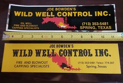 Well Control Oilfield Oil Gas Stickers