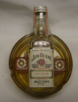 Jim Beam Las Vegas Convention Mini Bottle/Dice and Ashtray>Still Wrapped/Sealed