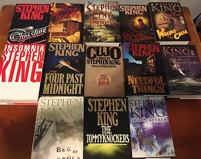 Stephen King First Edition Hardcover Lot Of 11 Christine Cujo Dark Tower Used