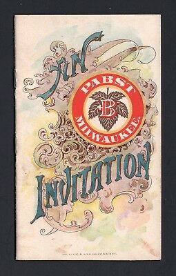 SCARCE 1880s Trade Card Booklet - Pabst Brewing Co - Blue Ribbon Beer