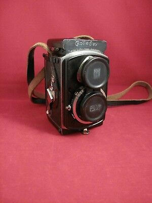 Rolleiflex Baby 4x4 127 Roll Film Camera with Leather Case