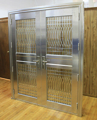 Modern Double Stainless Entry Doors Made of 304 Stainless/ Open Inward