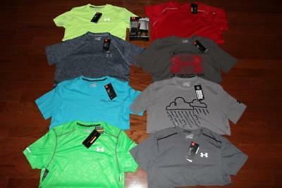 Lot 10 Under Armour Mens T Shirts Athletic Tees Undershirts Coldblack Small Nwt