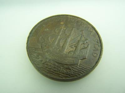1925 Commemoration medallion Prince of Wales South Africa visit Cape Town   2906