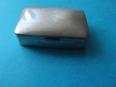 "Vintage/Collectable-""Silver Snuff/Pill Box"" -Sterling Silver-Stamped -1970's"