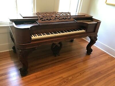 19th Century Antique Square Grand Piano